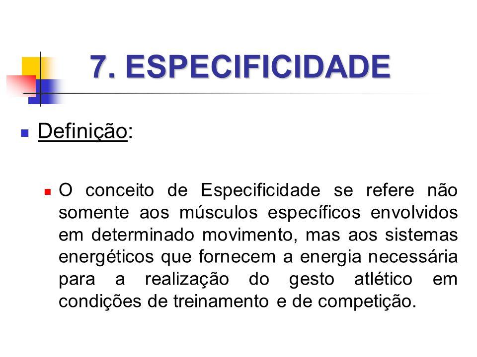 7. ESPECIFICIDADE Definição: