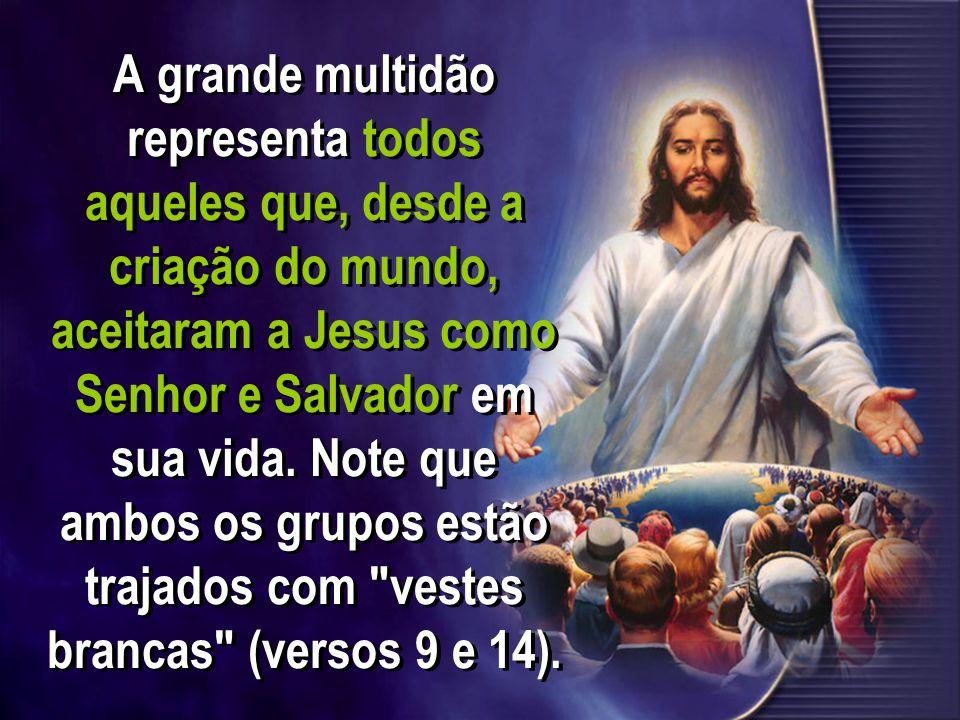 A grande multidão representa todos aqueles que, desde a criação do mundo, aceitaram a Jesus como Senhor e Salvador em sua vida.