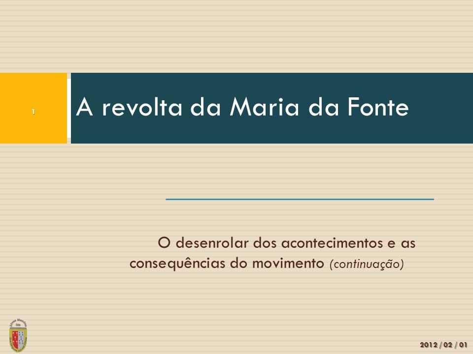 A revolta da Maria da Fonte
