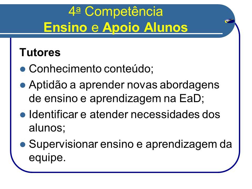 4a Competência Ensino e Apoio Alunos