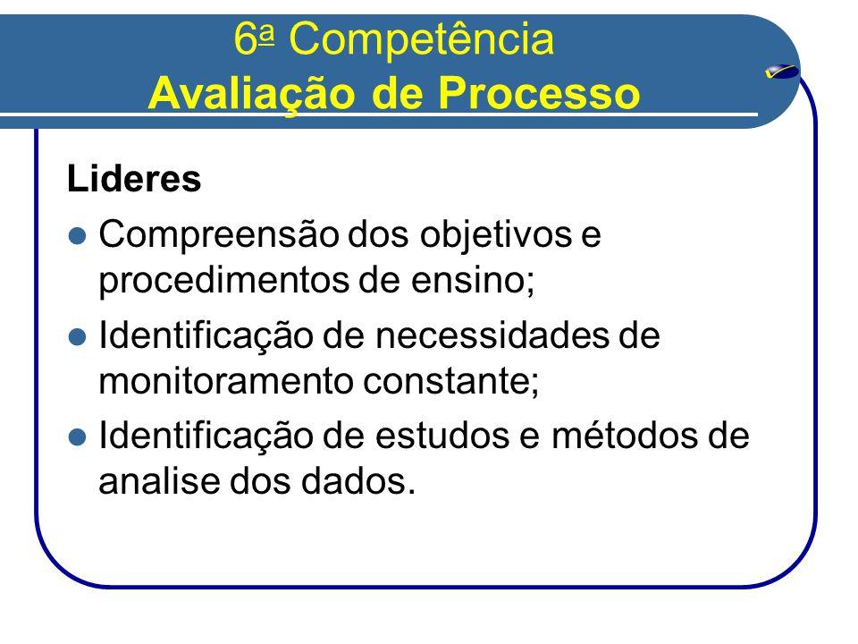 6a Competência Avaliação de Processo