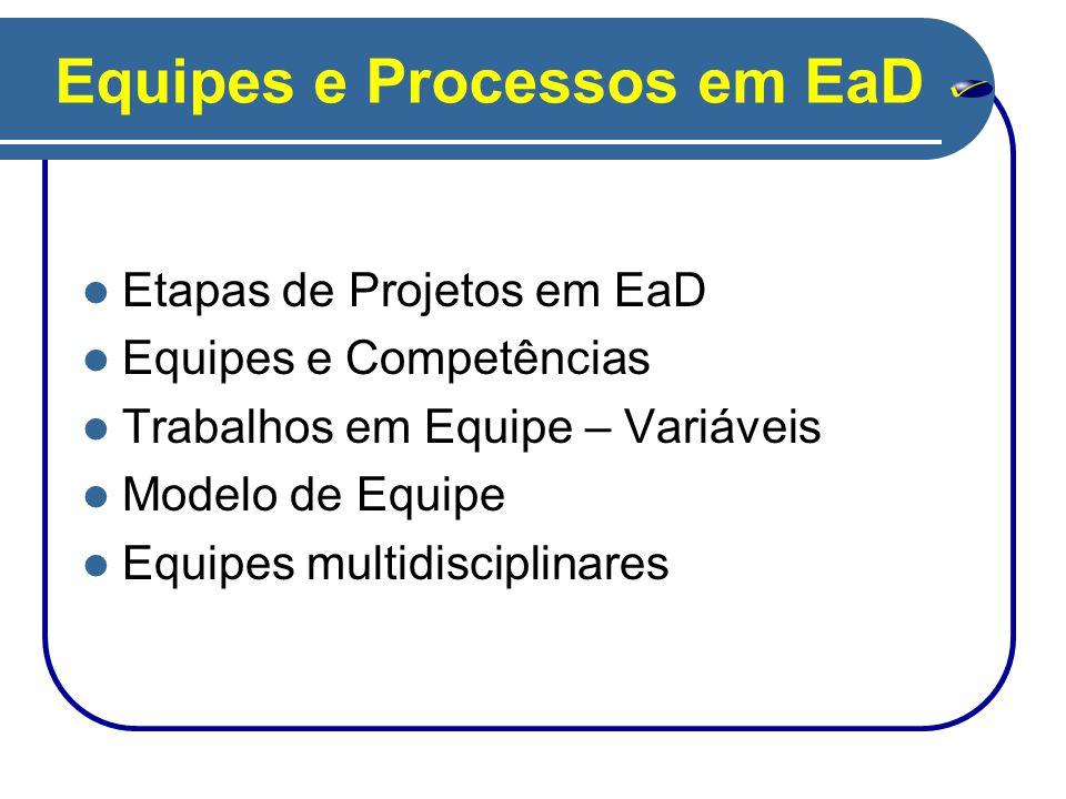 Equipes e Processos em EaD