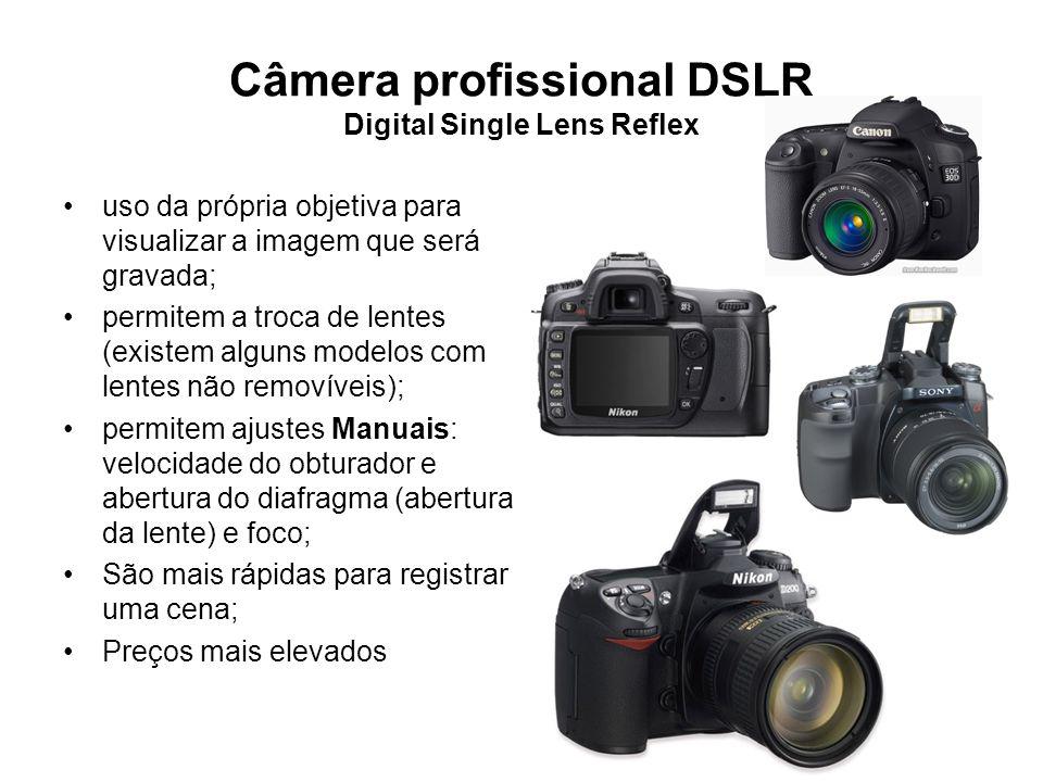Câmera profissional DSLR Digital Single Lens Reflex