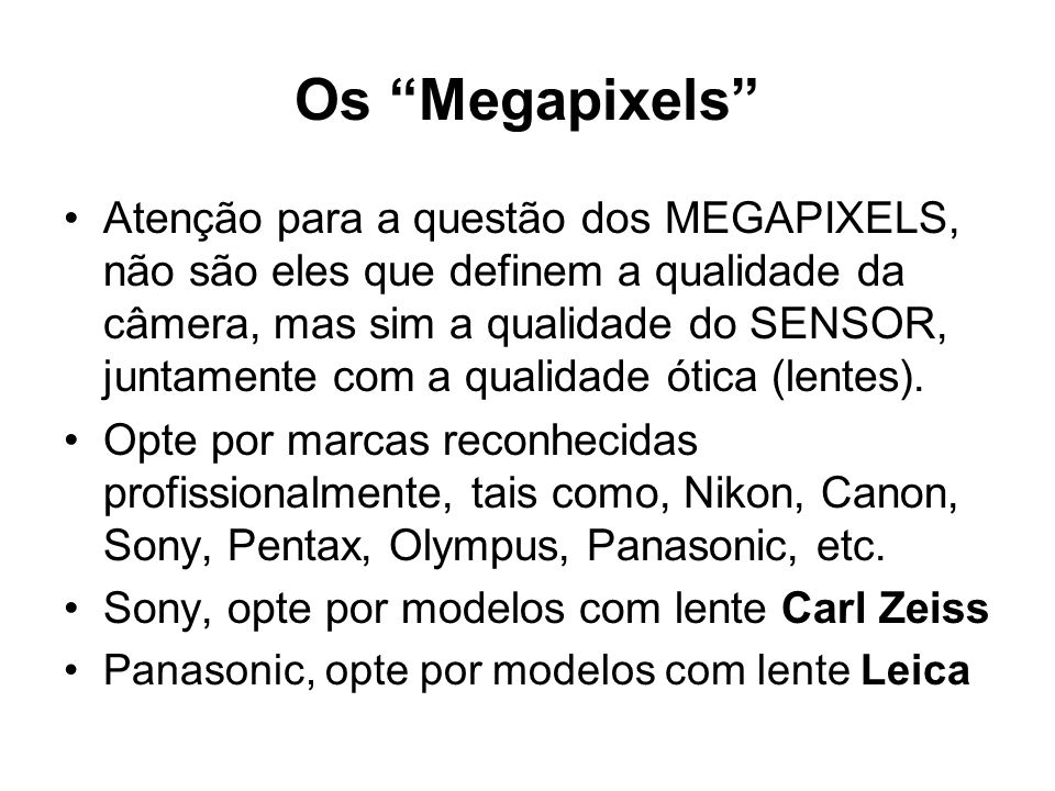 Os Megapixels
