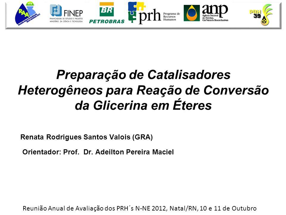 Preparação de Catalisadores Heterogêneos para Reação de Conversão da Glicerina em Éteres
