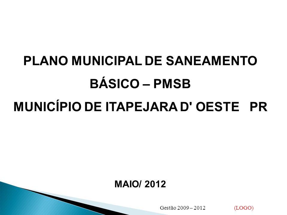 PLANO MUNICIPAL DE SANEAMENTO BÁSICO – PMSB
