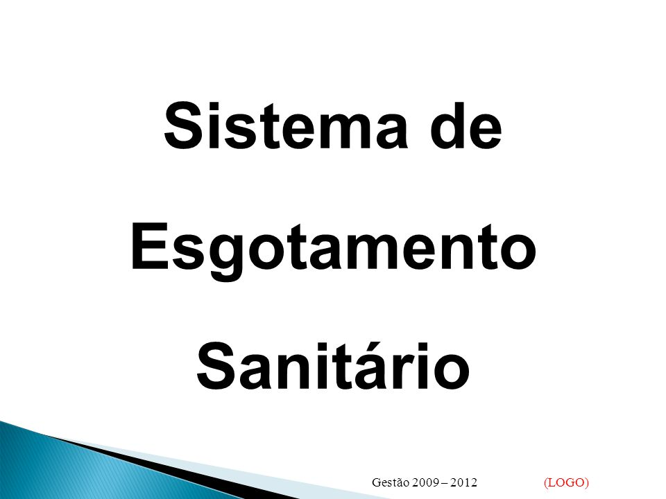 Sistema de Esgotamento Sanitário