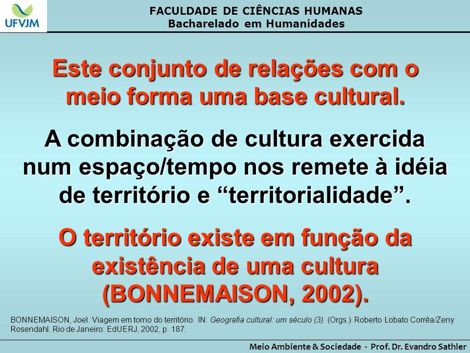 Este conjunto de relações com o meio forma uma base cultural.