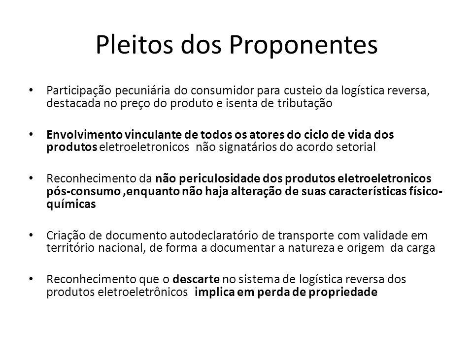 Pleitos dos Proponentes