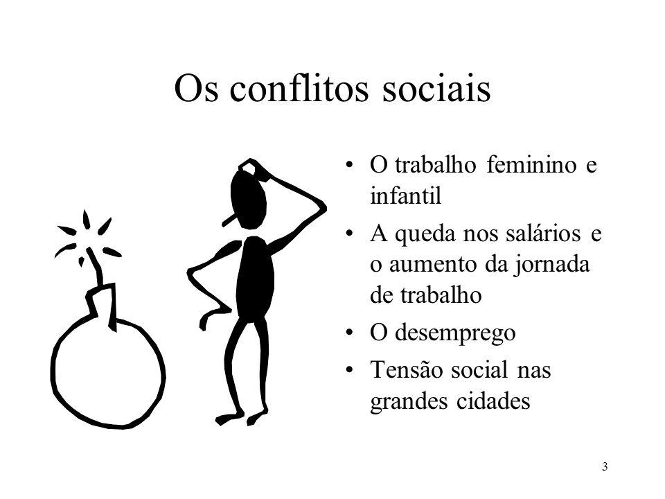 Os conflitos sociais O trabalho feminino e infantil