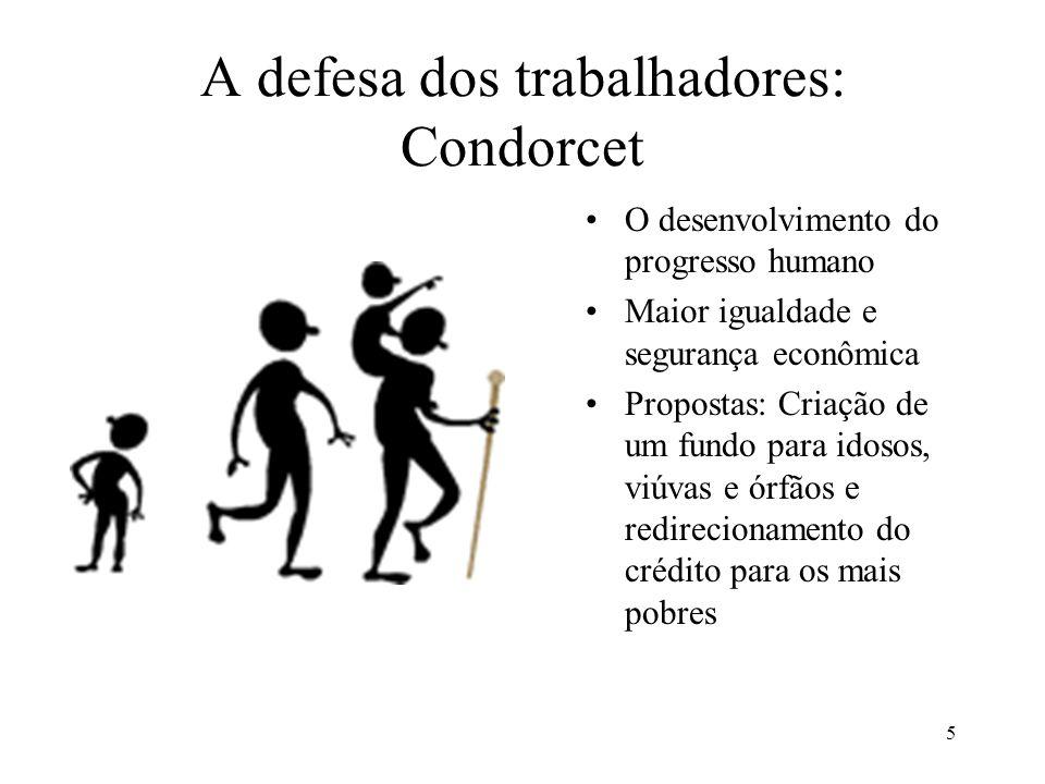 A defesa dos trabalhadores: Condorcet