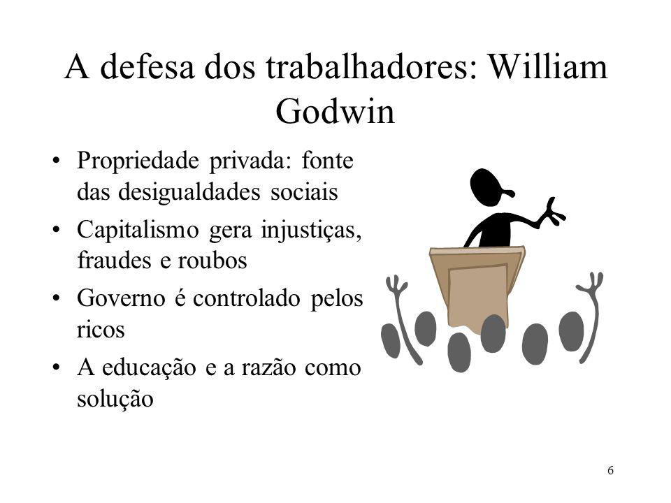 A defesa dos trabalhadores: William Godwin