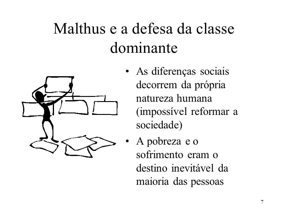 Malthus e a defesa da classe dominante
