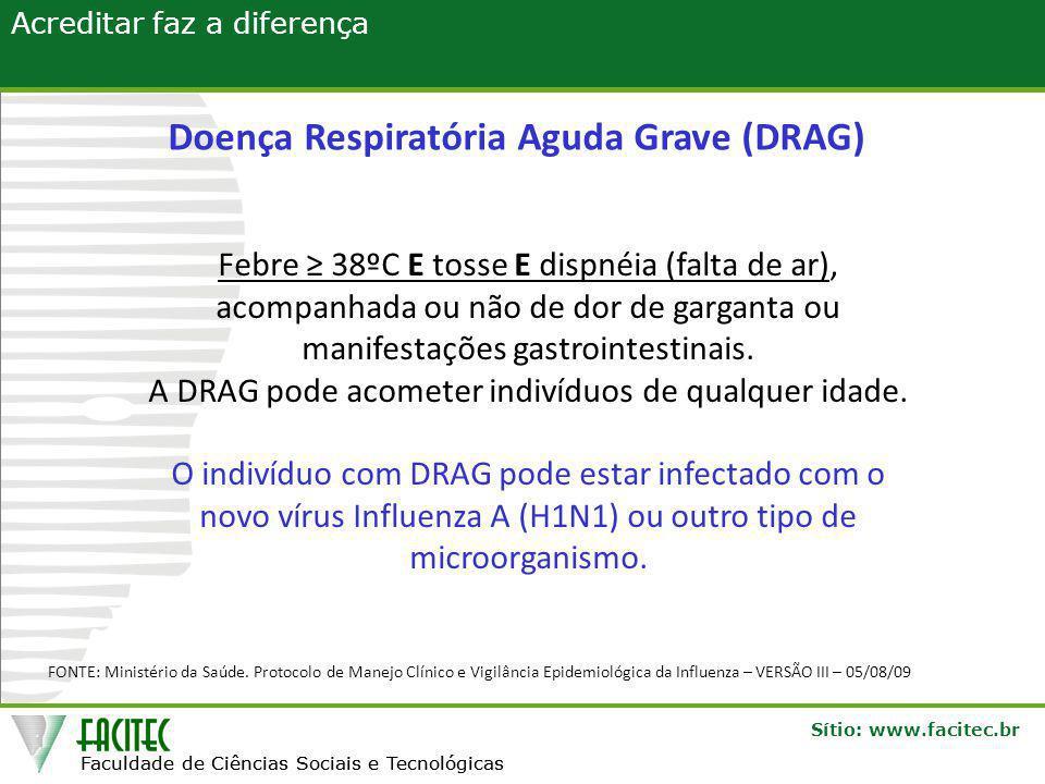 Doença Respiratória Aguda Grave (DRAG)