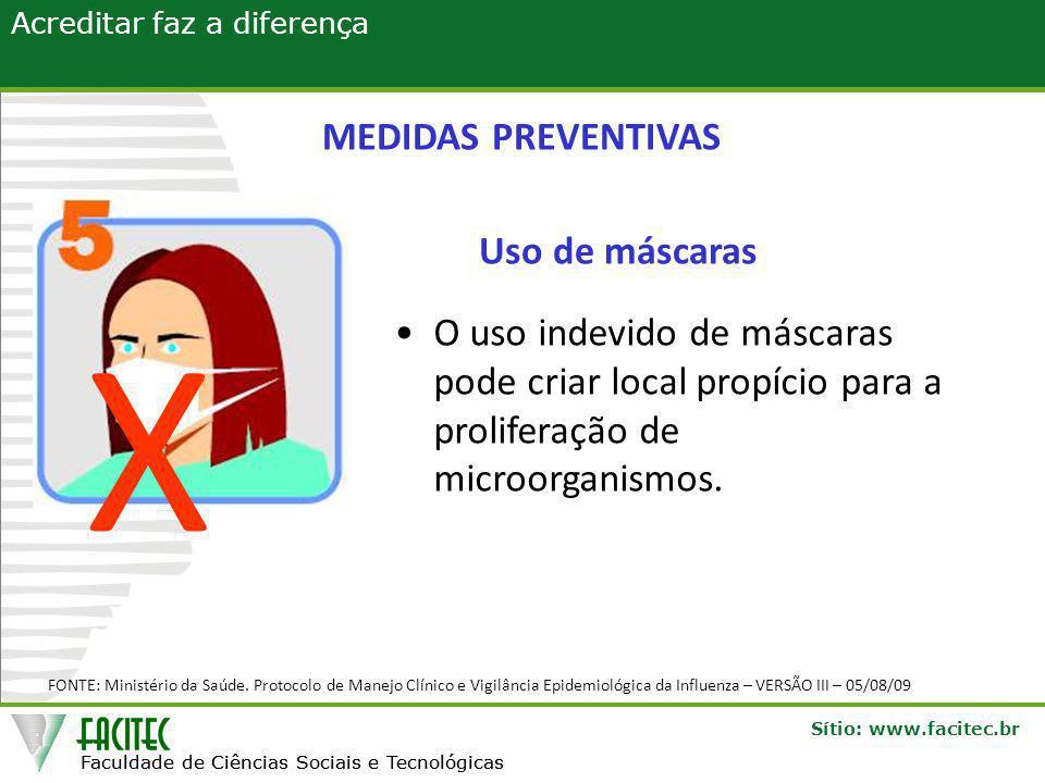 X MEDIDAS PREVENTIVAS Uso de máscaras