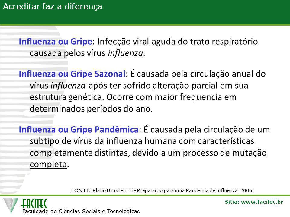 Influenza ou Gripe: Infecção viral aguda do trato respiratório causada pelos vírus influenza.