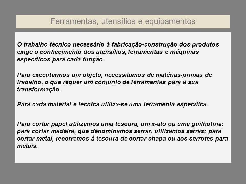 Ferramentas, utensílios e equipamentos