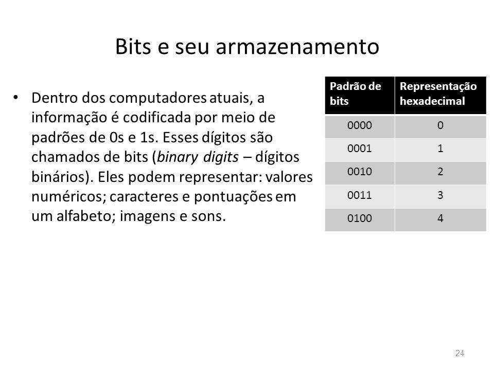 Bits e seu armazenamento