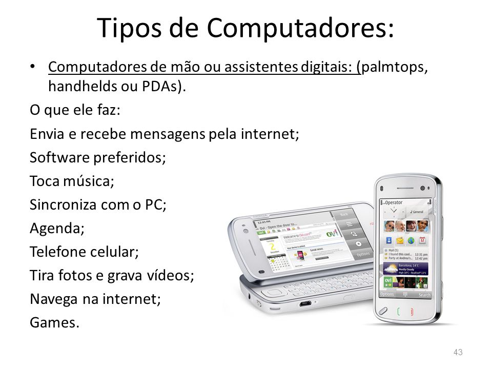 Tipos de Computadores: