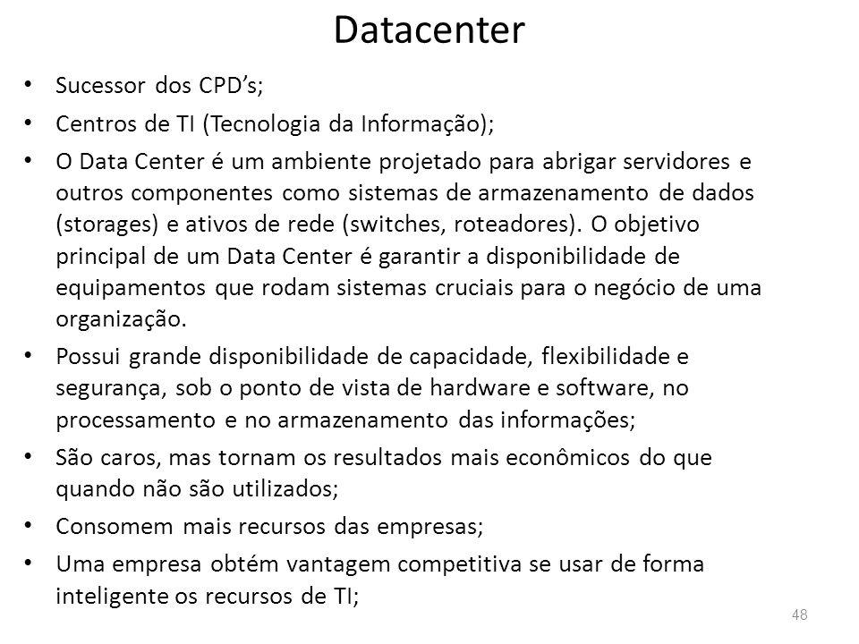 Datacenter Sucessor dos CPD's;
