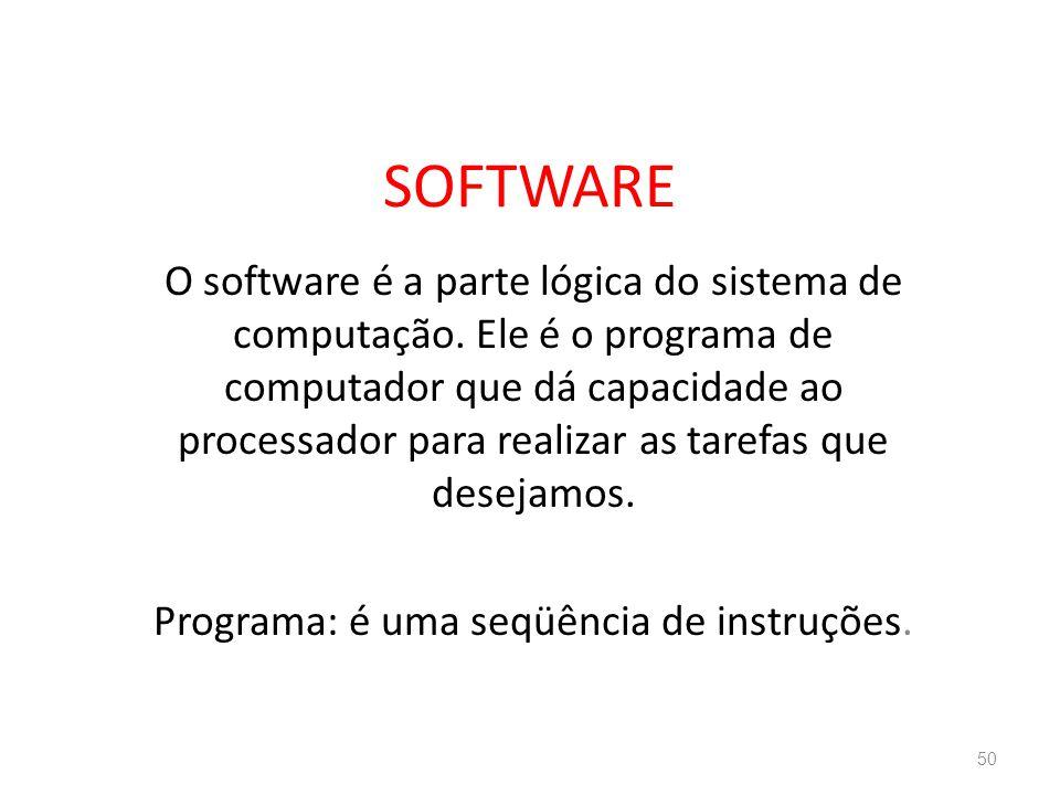 Programa: é uma seqüência de instruções.