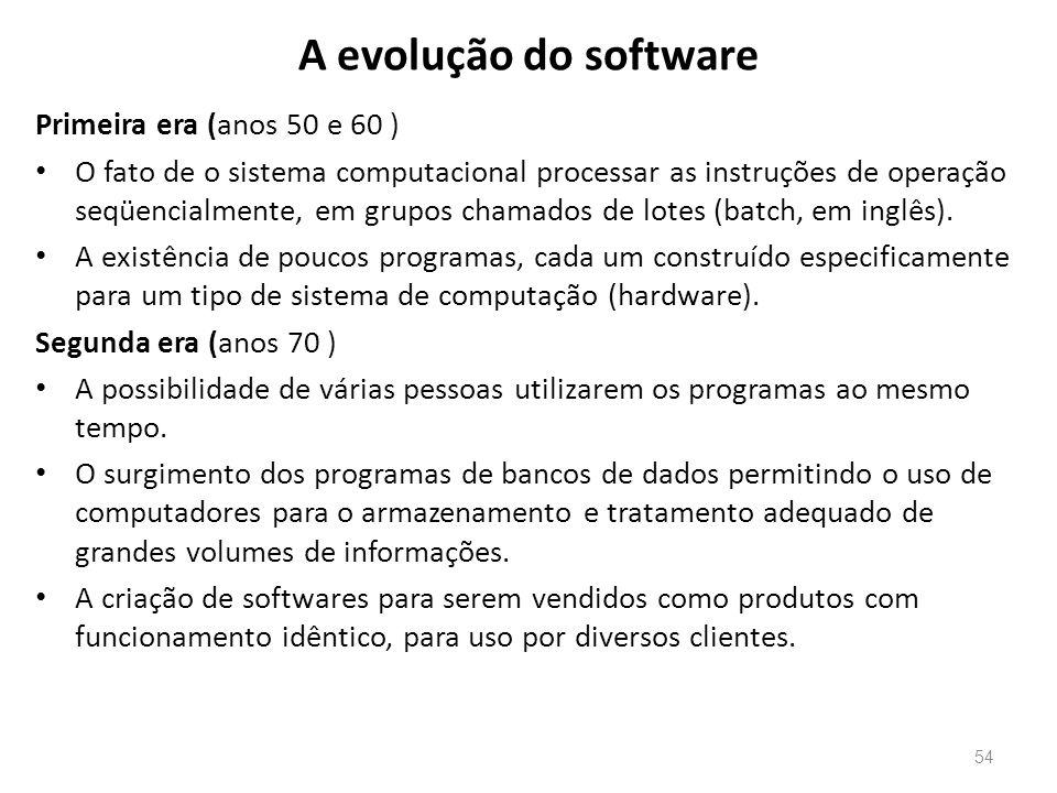 A evolução do software Primeira era (anos 50 e 60 )