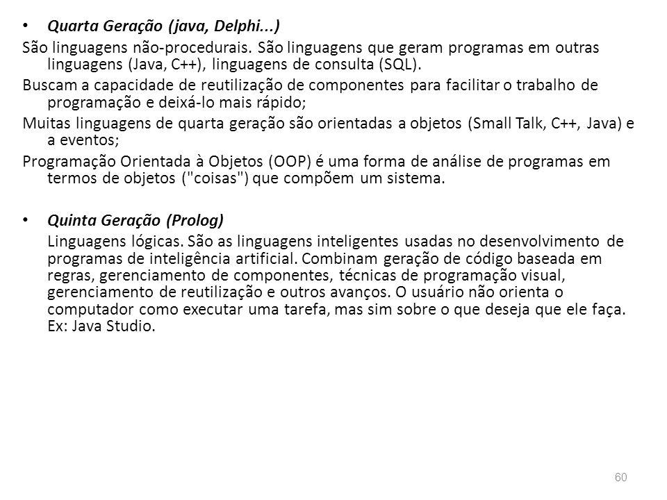 Quarta Geração (java, Delphi...)
