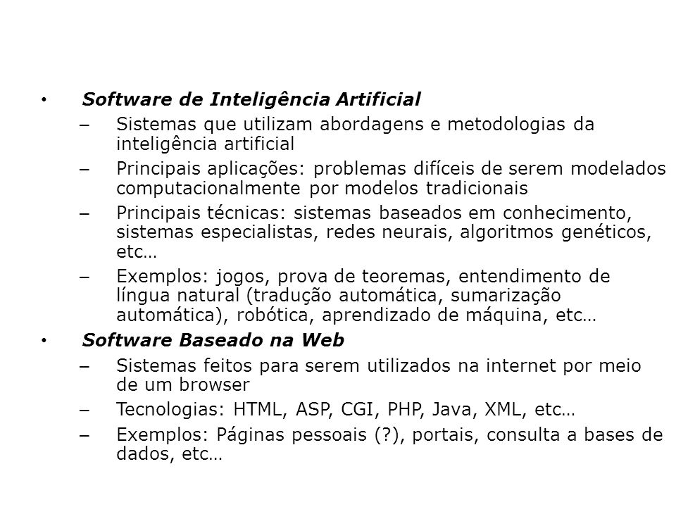 Software de Inteligência Artificial