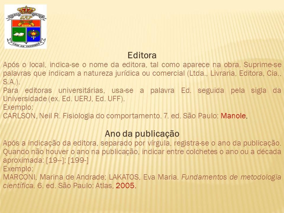 Editora Ano da publicação
