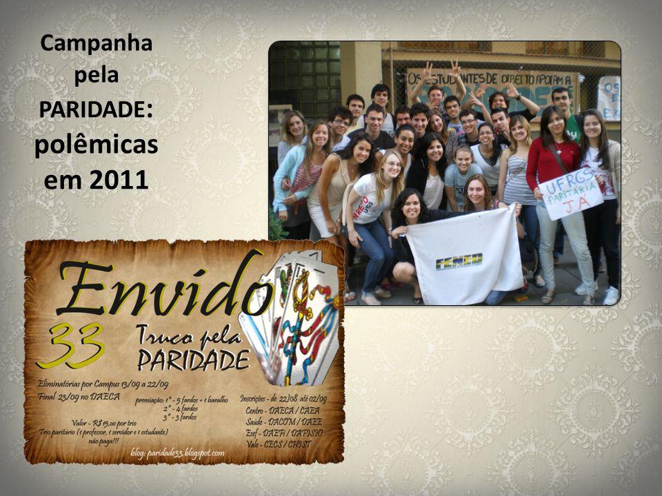 Campanha pela PARIDADE: polêmicas em 2011
