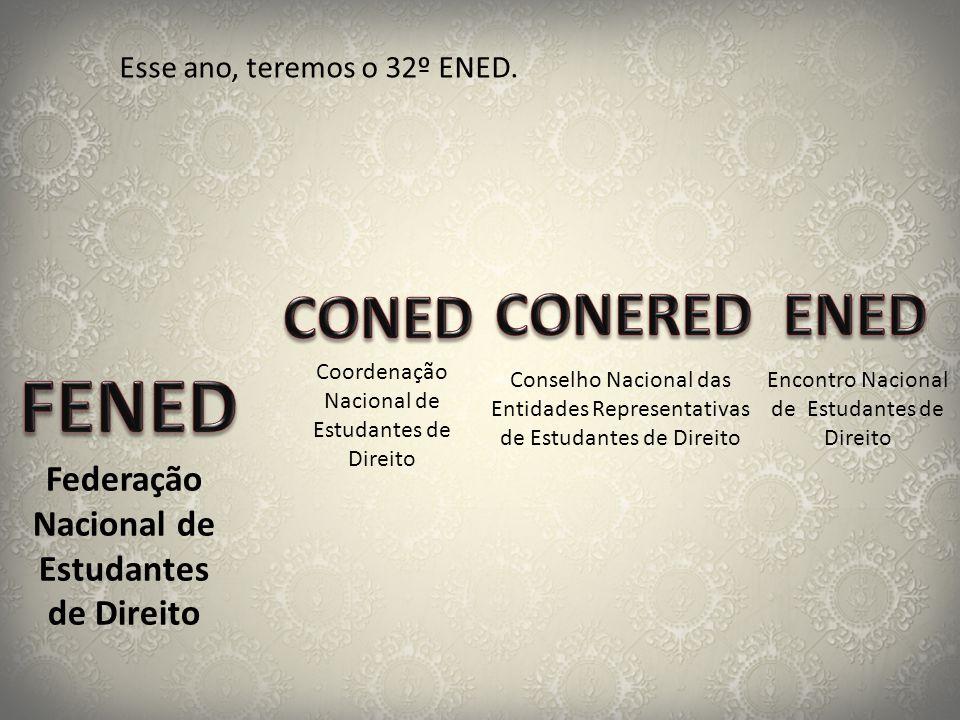 FENED CONED CONERED ENED Federação Nacional de Estudantes de Direito