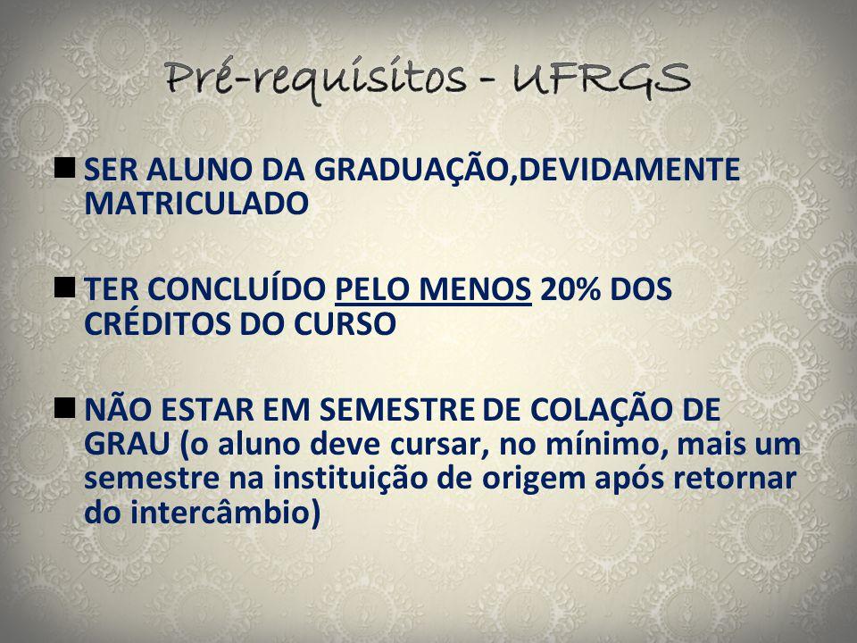Pré-requisitos - UFRGS