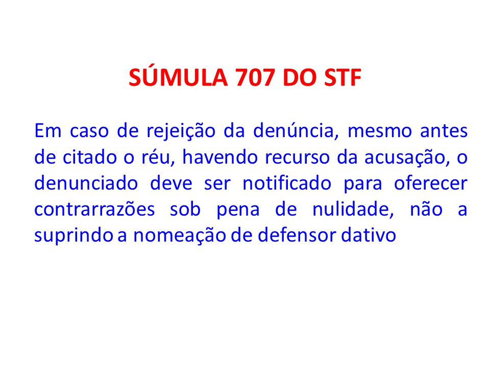 SÚMULA 707 DO STF
