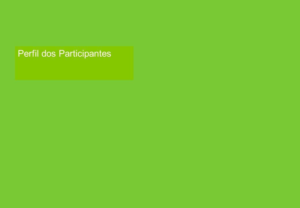 Respondent Profile Perfil dos Participantes
