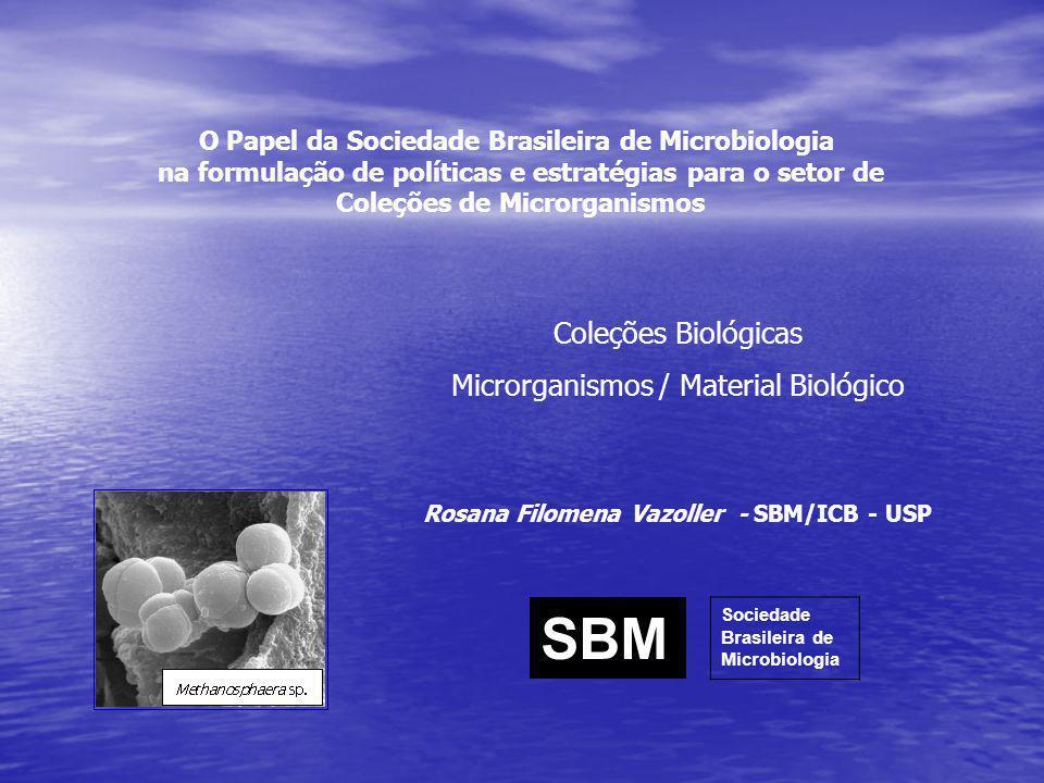 SBM Coleções Biológicas Microrganismos / Material Biológico