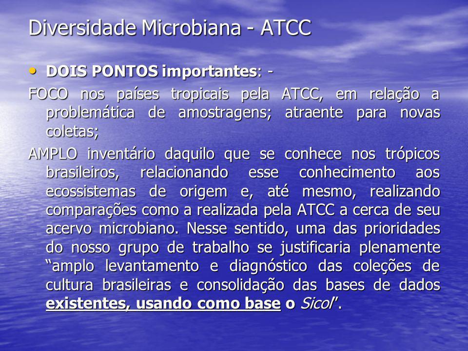Diversidade Microbiana - ATCC