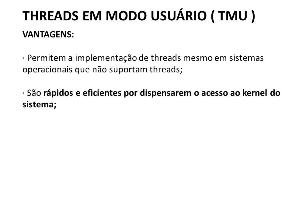 THREADS EM MODO USUÁRIO ( TMU )