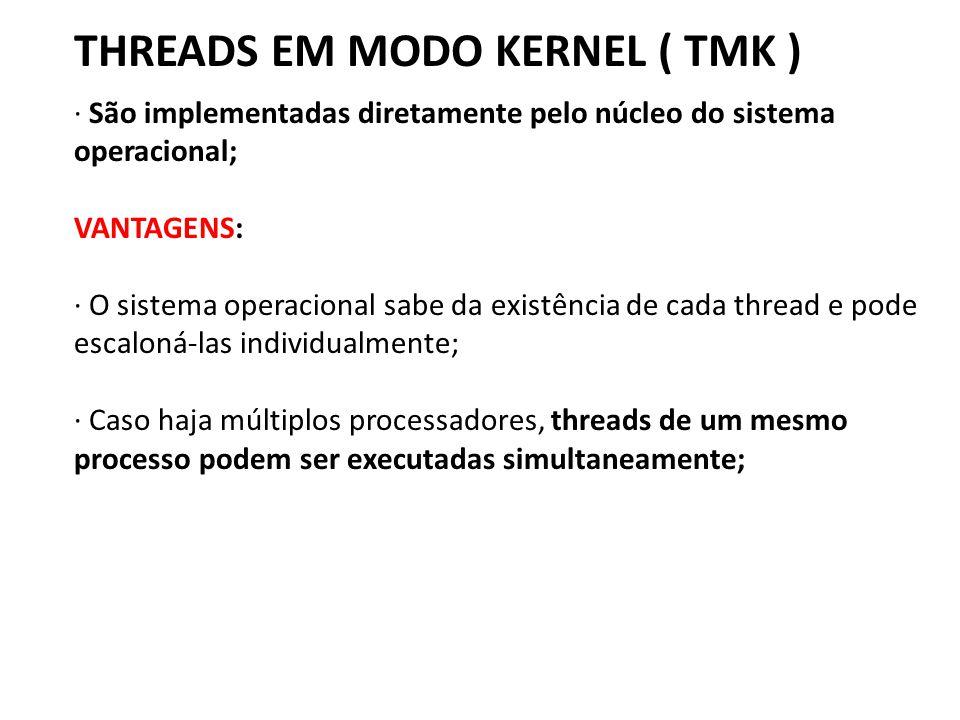 THREADS EM MODO KERNEL ( TMK )