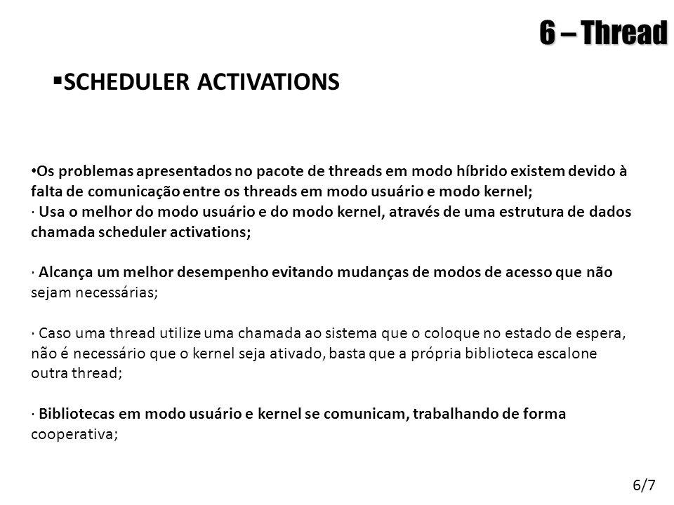 6 – Thread SCHEDULER ACTIVATIONS