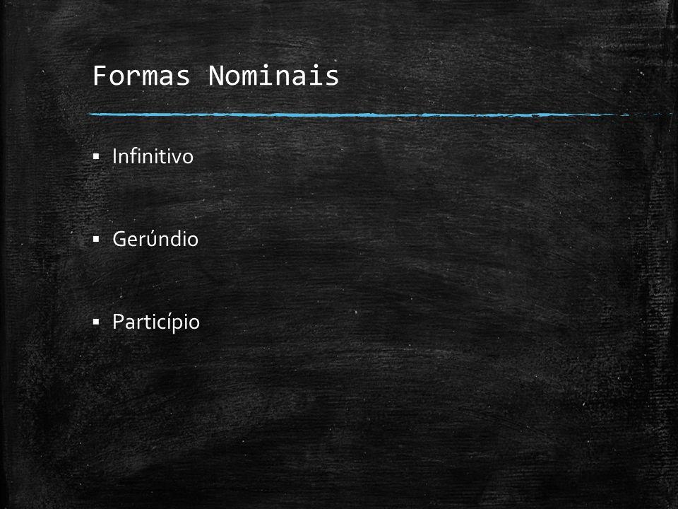 Formas Nominais Infinitivo Gerúndio Particípio