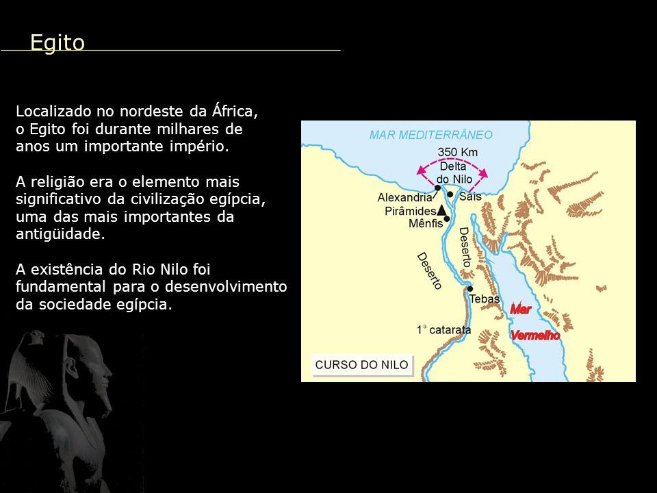 Egito Localizado no nordeste da África,