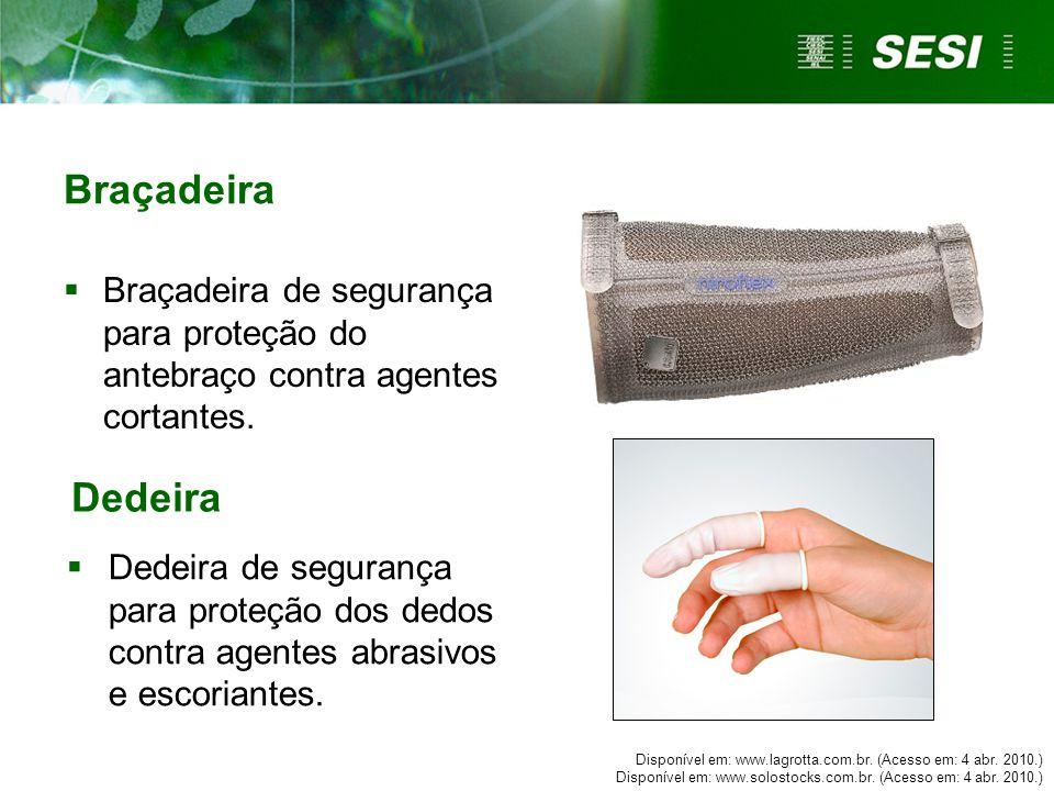 Braçadeira Braçadeira de segurança para proteção do antebraço contra agentes cortantes. Dedeira.