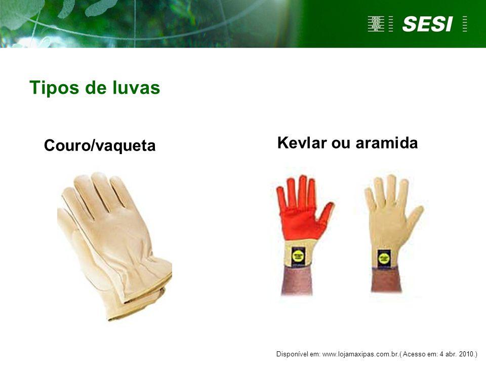 Tipos de luvas Kevlar ou aramida Couro/vaqueta