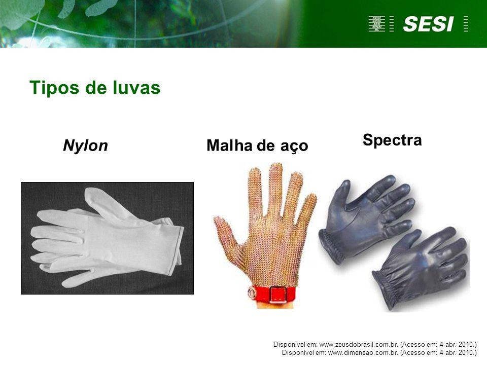 Tipos de luvas Spectra Nylon Malha de aço
