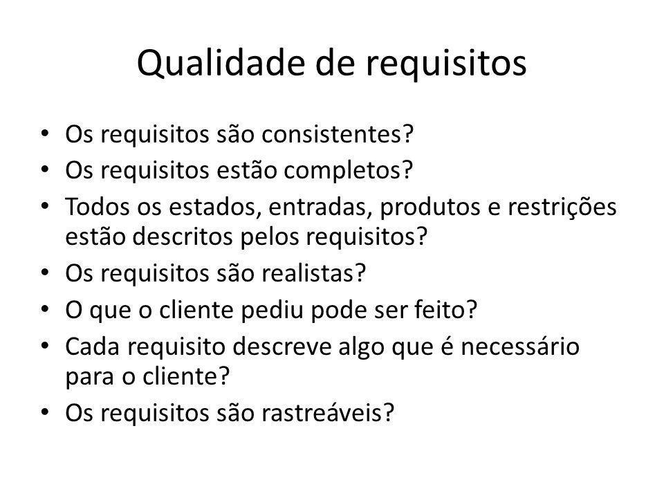 Qualidade de requisitos