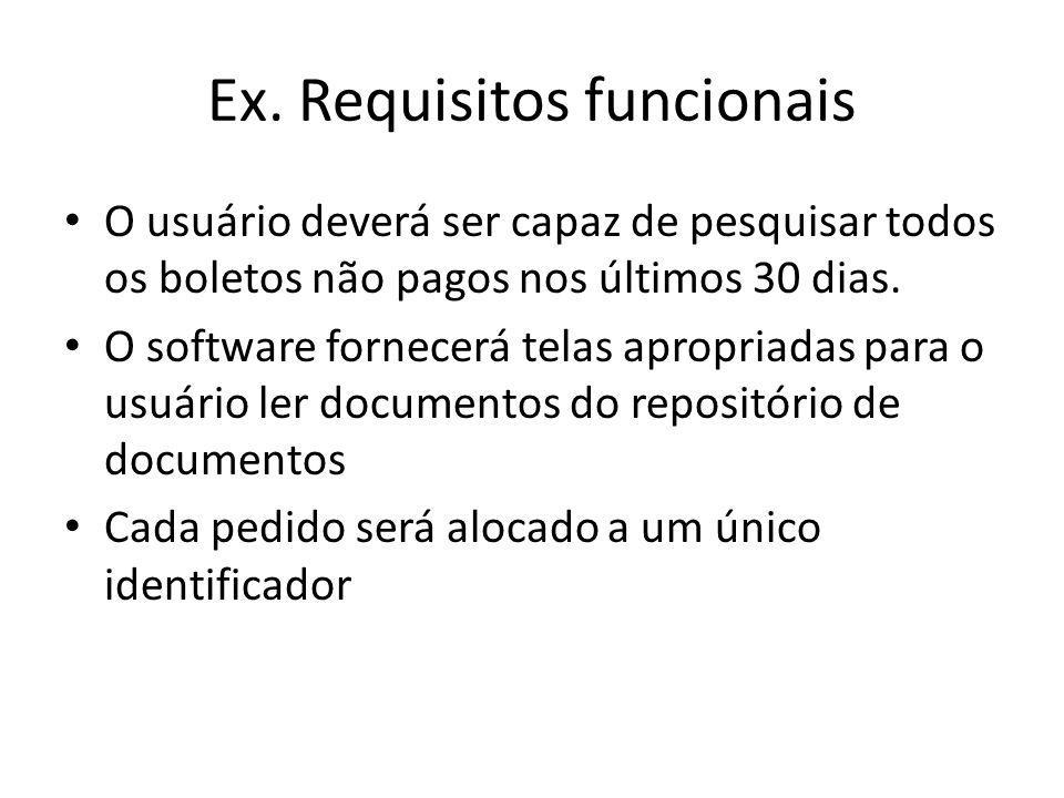 Ex. Requisitos funcionais