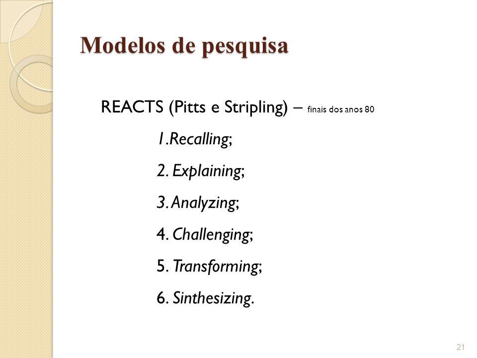 Modelos de pesquisa