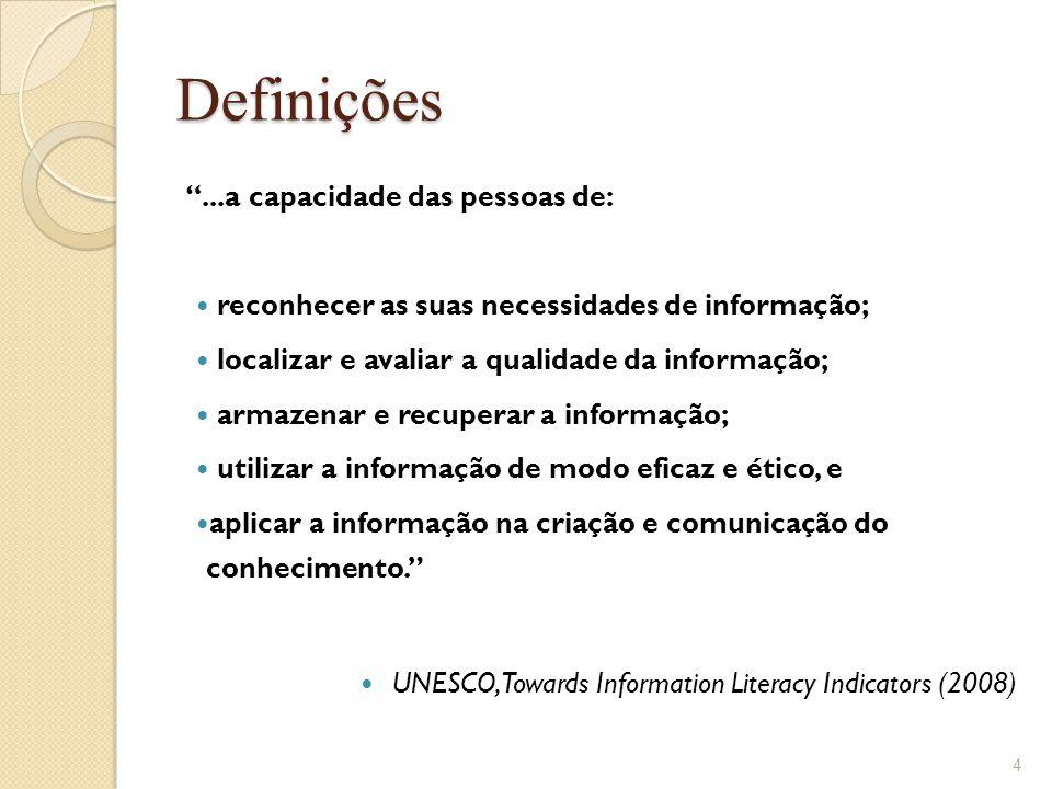 Definições ...a capacidade das pessoas de: