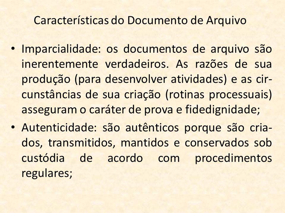 Características do Documento de Arquivo