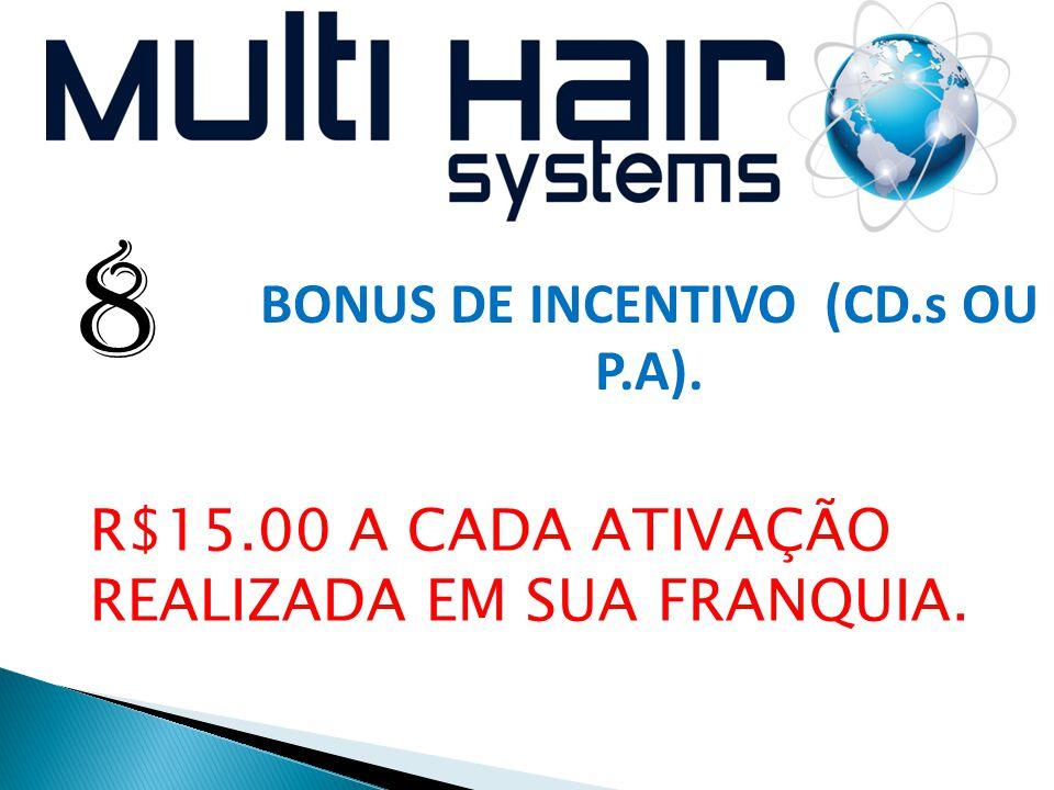 BONUS DE INCENTIVO (CD.s OU P.A).